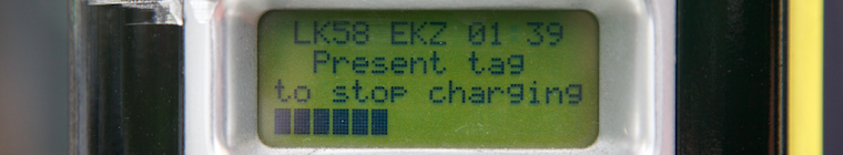 Electric charging point display